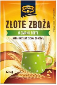 Kawa zbożowa Krüger Złote Zboża, 25 saszetek x 12.5g, toffi