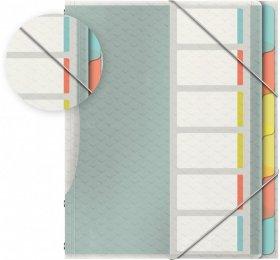 Teczka segregująca Esselte Colour'Ice, A4, 6 przegródek, wielobarwny