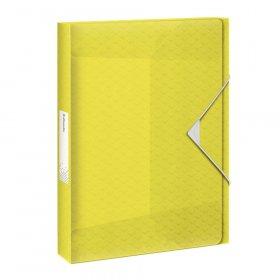 Teczka plastikowa z gumką Esselte Colour'Ice, A4, 40mm, poszerzana, żółty