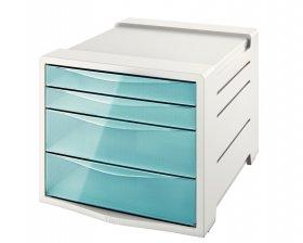 Pojemnik Esselte Colour'Ice, z 4 szufladami, do dokumentów, A4, niebieski