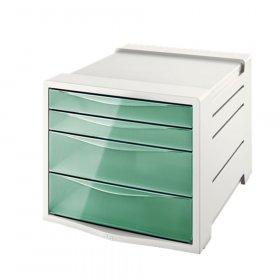 Pojemnik Esselte Colour'Ice, z 4 szufladami, do dokumentów, A4, zielony
