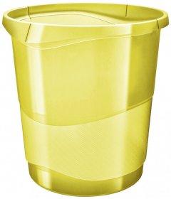 Kosz na śmieci Esselte Colour'Ice, 14l, żółty