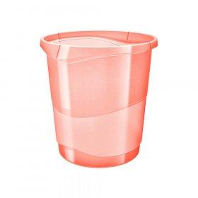 Kosz na śmieci Esselte Colour'Ice, 14l, brzoskwiniowy