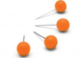 Pinezki Nobo, do tablic, 100 sztuk, pomarańczowy