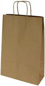 Torba papierowa Ecobag, 240x100x360mm, 250 sztuk, brązowy