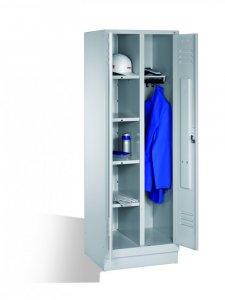 Szafa gospodarcza do przechowywania odzieży C+P, metal, 1800x610X500mm, jasnoszary