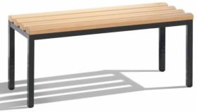 Ławka wolnostojąca C+P Basic, drewno/metal, 420x1000x353mm, jasny brąz