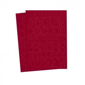 Litery samoprzylepne, 3 cm, A-Z na 2 arkuszach, czerwony