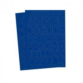 Litery samoprzylepne, 3 cm, A-Z na 2 arkuszach, niebieski