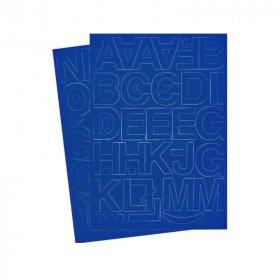Litery samoprzylepne, 4 cm, 1 arkusz, niebieski