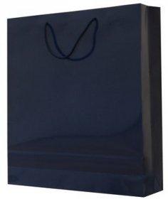 Torba papierowa laminowana NC Prestige, 340x150x450mm granatowy