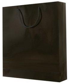 Torba papierowa laminowana NC Prestige, 340x150x450mm czarny