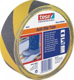 Taśma antypoślizgowa tesa, Anti Slip, 15mx50mm, czarno-żółty