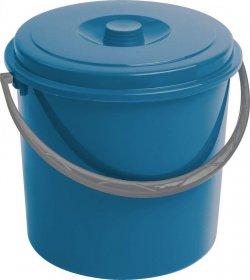 Kosz na śmieci Curver,  z pokrywą, plastikowy, 10L, niebieski
