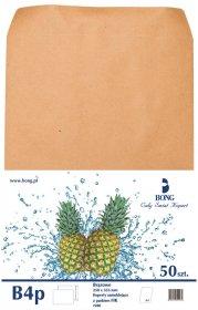 Koperta standardowa Bong Business Mail, B4, z paskiem HK, 50 sztuk, brązowy