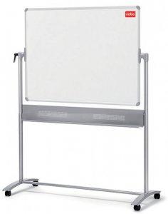 Tablica mobilna suchościeralno- magnetyczna Nobo, Prestige, w ramie aluminiowej, porcelanowa, 120x90cm, biały