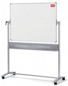 Tablica mobilna suchościeralno- magnetyczna Nobo, Prestige, w ramie aluminiowej, porcelanowa, 150x120cm, biały
