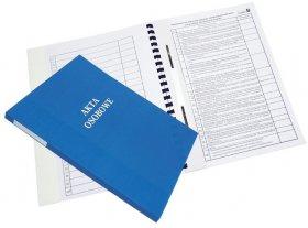 Teczka do akt osobowych Warta, A4, z bindą wewnętrzną, zadrukowana, ABCD, niebieski