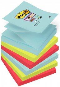 Notes samoprzylepny Post-it Super Sticky Z-Notes Miami, 76x76mm, 6x90 karteczek, mix kolorów
