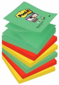 Notes samoprzylepny Post-it Super Sticky Z-Notes Marrakesz, 76x76mm, 6x90 karteczek, mix kolorów