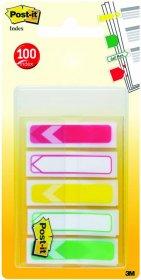 Zakładki Post-it, do priorytetyzowania, 11.9x43.2mm, mix kolorów