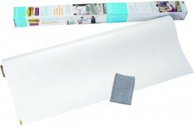 Folia suchościeralna Post-it Super Sticky, w rolce,  122x183cm, ściereczka w zestawie do montażu i czyszczenia