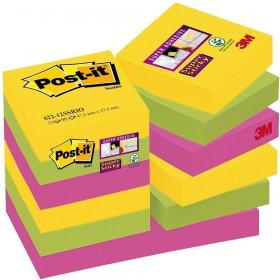Notes samoprzylepny Post-it Super Sticky Rio de Janeiro, 47.6x47.6mm, 12x90 karteczek, mix kolorów