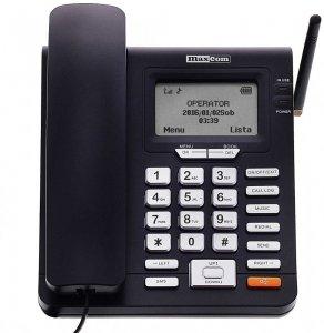 Telefon przewodowy Maxcom MM28D HS, czarny
