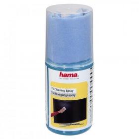Spray do czyszczenia ekranów LCD/TFT Hama, uniwersalny, 200ml, w zestawie ściereczka z mikrofibry