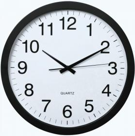Zegar ścienny Hama PG-400 Jumbo, średnica 40 cm, tarcza kolor biały, obudowa kolor czarny