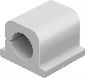 Samoprzylepne klipsy Durable Cavoline Clip Pro 1, na 1 kabel, większy przekrój, 20x21x16mm, 6 sztuk, szary