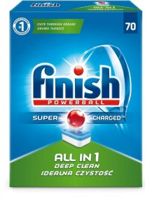 Tabletki do zmywarek Finish All-in-1, regular, 70 sztuk