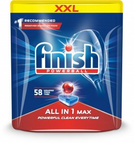 Tabletki do zmywarek Finish All-in-1 Max, regular, 58 sztuk