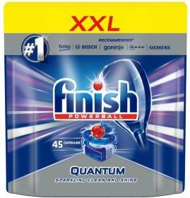 Kapsułki do zmywarek Finish Quantum Max, regularne, 45 sztuk