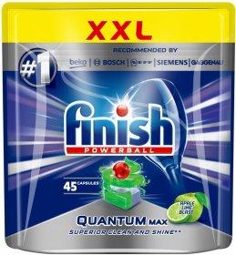 Kapsułki do zmywarek Finish Quantum Max, apple&lime, 45 sztuk