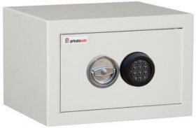 Sejf meblowo-gabinetowy Metalkas 2-PR-E/kl.S1, zamek elektroniczny, 300x450x380mm, szary