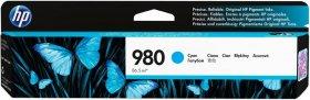 Tusz HP 980 (D8J07A), 6600 stron, cyan (błękitny)
