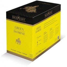 Herbata zielona smakowa w torebkach Richmont Green Jasmine, jaśminowa, 50 sztuk x 4g