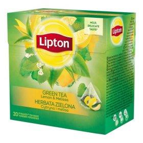 Herbata zielona smakowa w piramidkach Lipton, cytryna z melisą, 20 sztuk