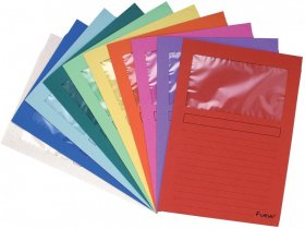 Skoroszyt kartonowy z okienkiem Exacompta Forever, A4, 10 sztuk, mix kolorów