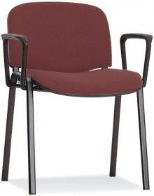 Krzesło biurowe ISO ARM Black, 4L-BL ARM C4 GB, brązowy