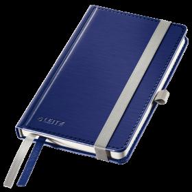 Notatnik w ktratkę Leitz Style, A6, twarda oprawa, 80 kartek, tytanowy błękit