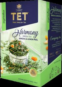 Herbata zielona smakowa w kopertach Tet Harmony, sencha i skórka cytrynowa, 20 x 2g