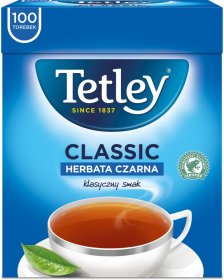 Herbata czarna w torebkach Tetley Classic, 100 sztuk x 1.5g