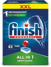 Tabletki do zmywarek Finish All in One, regular, 63 sztuki