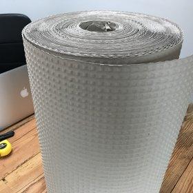 Papier pakowy bąbelkowy, 50cm x 70m, w roli, szary