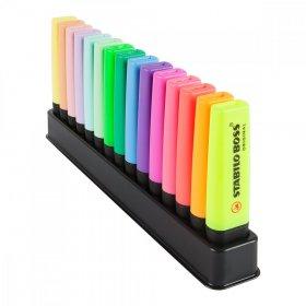 Zakreślacz Stabilo Boss Original, ścięta, 15 sztuk, mix kolorów
