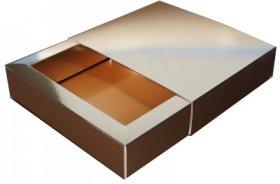 Karton ozdobny, 198x233x48mm, złoty