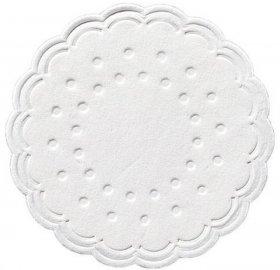 Podkładki papierowe pod filiżanki Duni Tissue, średnica 7.5 cm, 250 sztuk, biały