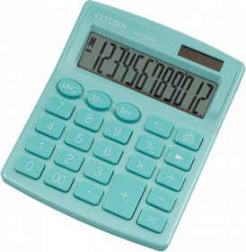 Kalkulator biurowy Citizen SDC-812, 12 cyfr, zielony